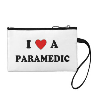 I Love a Paramedic Coin Wallet