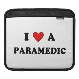 I Love a Paramedic iPad Sleeve