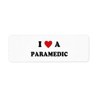 I Love A Paramedic Label