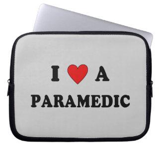 I Love a Paramedic Laptop Sleeve