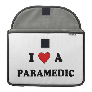 I Love a Paramedic Sleeves For MacBook Pro