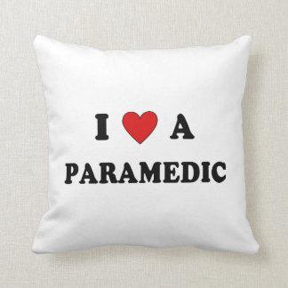 I Love a Paramedic Throw Pillow
