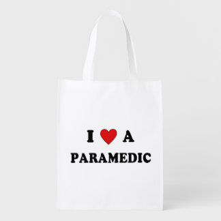 I Love A Paramedic Grocery Bags