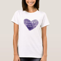 I love a pediatric stroke warrior ladies t-shirt
