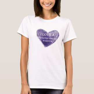 I love a pediatric stroke warrior ladies t-shirt