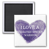 I love a pediatric stroke warrior magnet