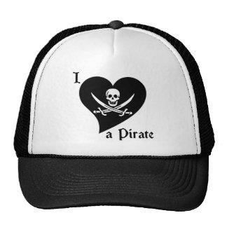 I Love a Pirate Trucker Hat