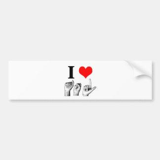 I Love A-S-L Car Bumper Sticker