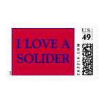 I LOVE A SOLIDER RED STAMP