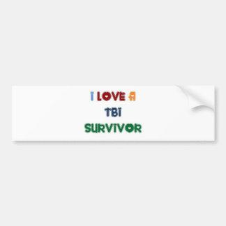 I LOVE A TBI SURVIVOR BUMPER STICKER
