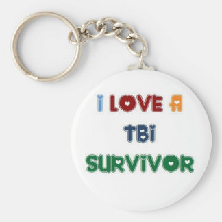 I LOVE A TBI SURVIVOR KEYCHAIN
