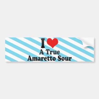 I Love A True+Amaretto Sour Bumper Sticker