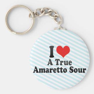 I Love A True+Amaretto Sour Keychains