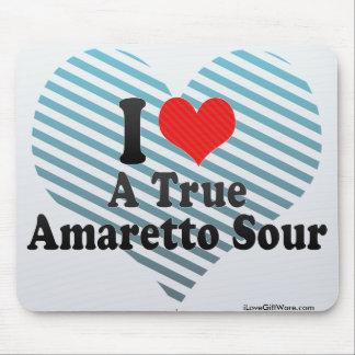 I Love A True+Amaretto Sour Mousepads