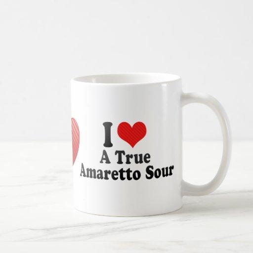 I Love A True+Amaretto Sour Classic White Coffee Mug