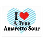 I Love A True+Amaretto Sour Postcard