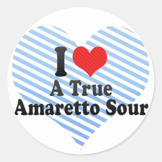 I Love A True+Amaretto Sour Round Stickers