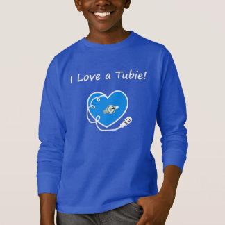 I love a tubie! Tshirt for  kids blue