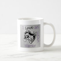 I love a warrior.png coffee mug