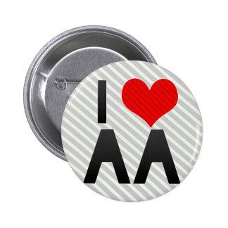 I Love AA 2 Inch Round Button