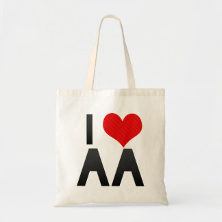 I Love AA Budget Tote Bag