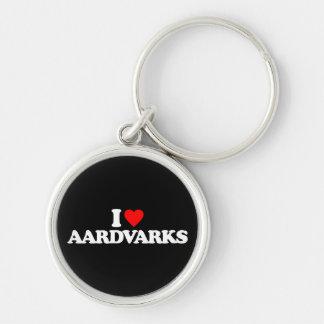 I LOVE AARDVARKS KEY CHAINS