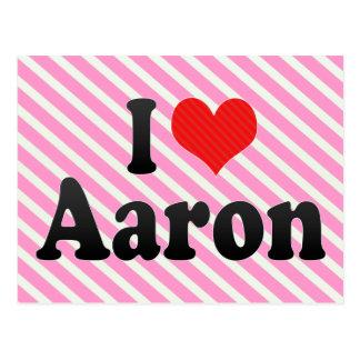 I Love Aaron Postcard