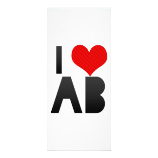 I Love AB Personalized Rack Card