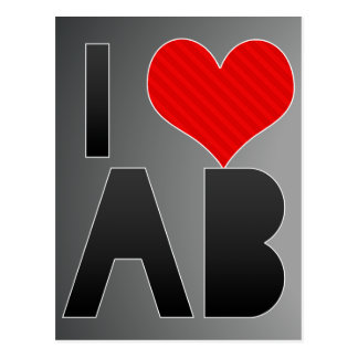 I Love AB Postcard