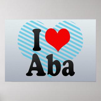 I Love Aba, Nigeria Print