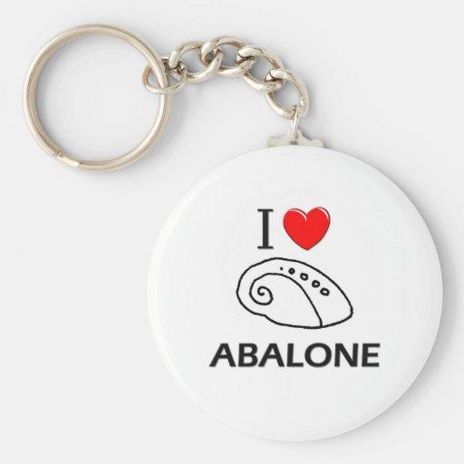 I Love Abalone Keychain