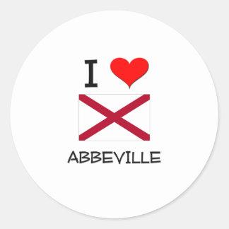 I Love ABBEVILLE Alabama Stickers