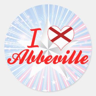 I Love Abbeville, Alabama Round Stickers