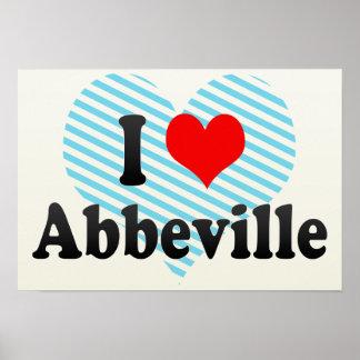 I Love Abbeville, France Poster