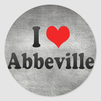 I Love Abbeville, France Round Stickers