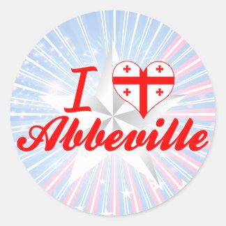 I Love Abbeville, Georgia Round Sticker