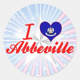 I Love Abbeville, Louisiana Round Sticker