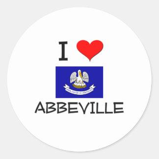 I Love ABBEVILLE Louisiana Stickers