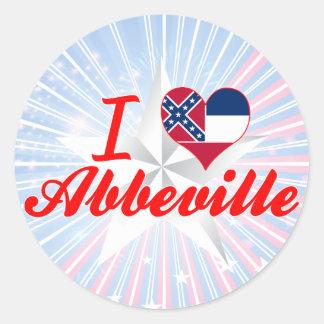 I Love Abbeville, Mississippi Stickers