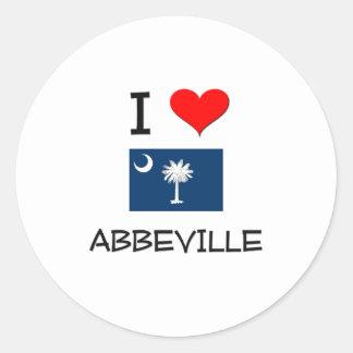 I Love Abbeville South Carolina Round Stickers