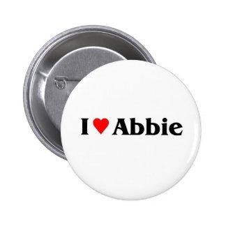 I love abbie 2 inch round button