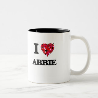 I Love Abbie Two-Tone Coffee Mug