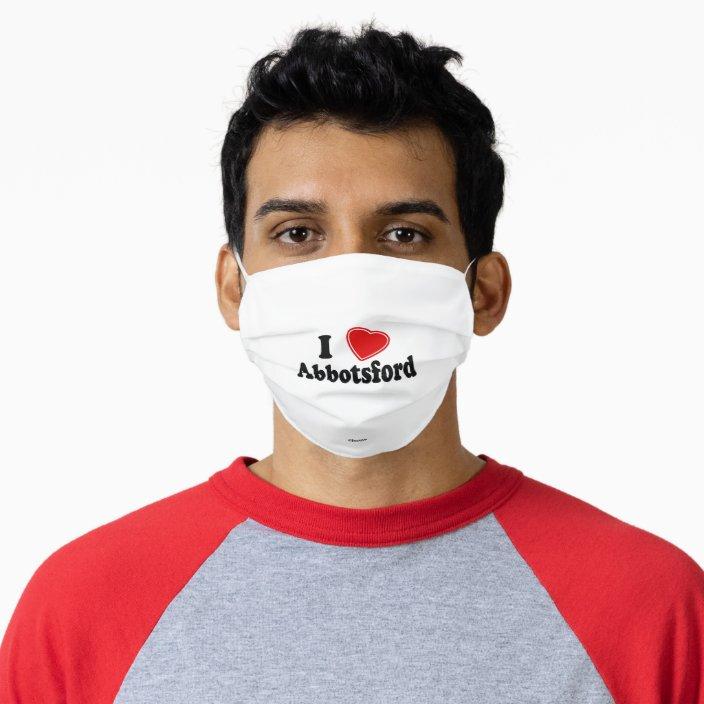 I Love Abbotsford Cloth Face Mask