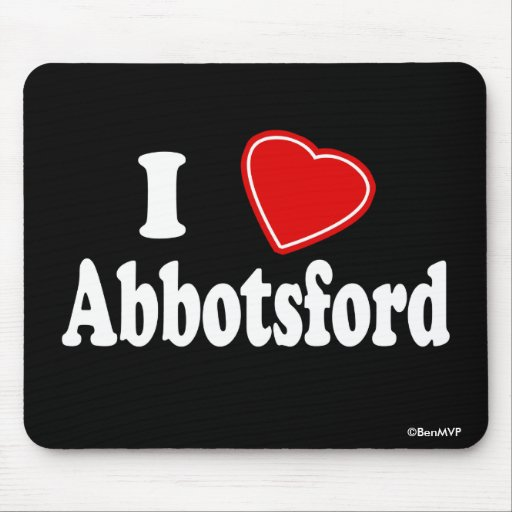 I Love Abbotsford Mouse Pad