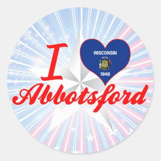 I Love Abbotsford, Wisconsin Classic Round Sticker