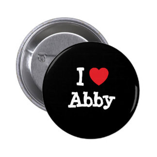 I love Abby heart T-Shirt 2 Inch Round Button
