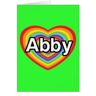 I love Abby, rainbow heart Card