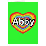 I love Abby, rainbow heart Greeting Card