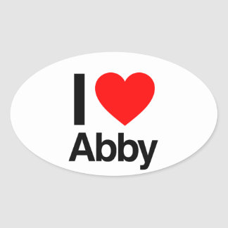 i love abby oval stickers