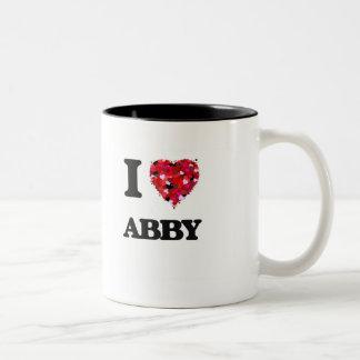 I Love Abby Two-Tone Coffee Mug